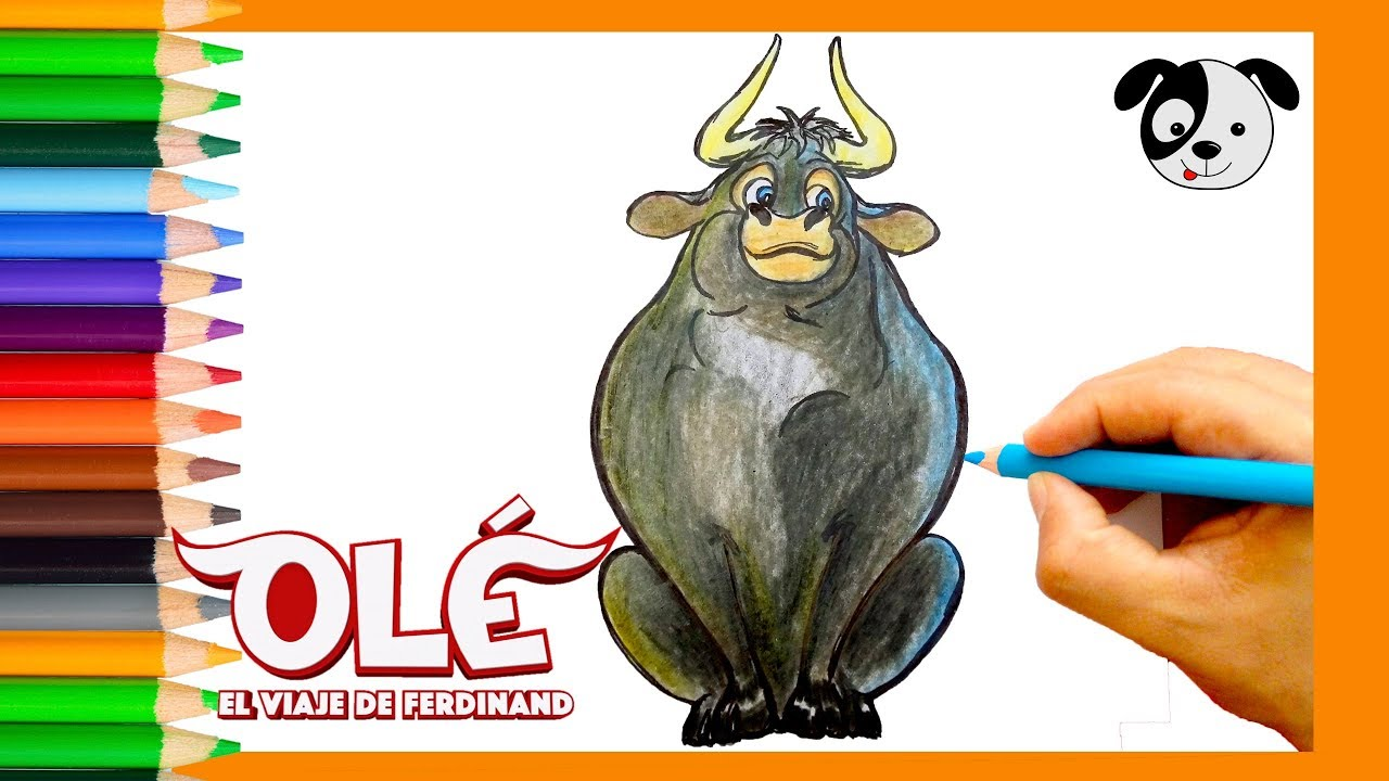Cómo dibujar a Ferdinand (NUEVA PELÍCULA OLÉ)-How to draw Ferdinand-Dibujos  para niños, dibujos de Ferdinand, como dibujar Ferdinand paso a paso