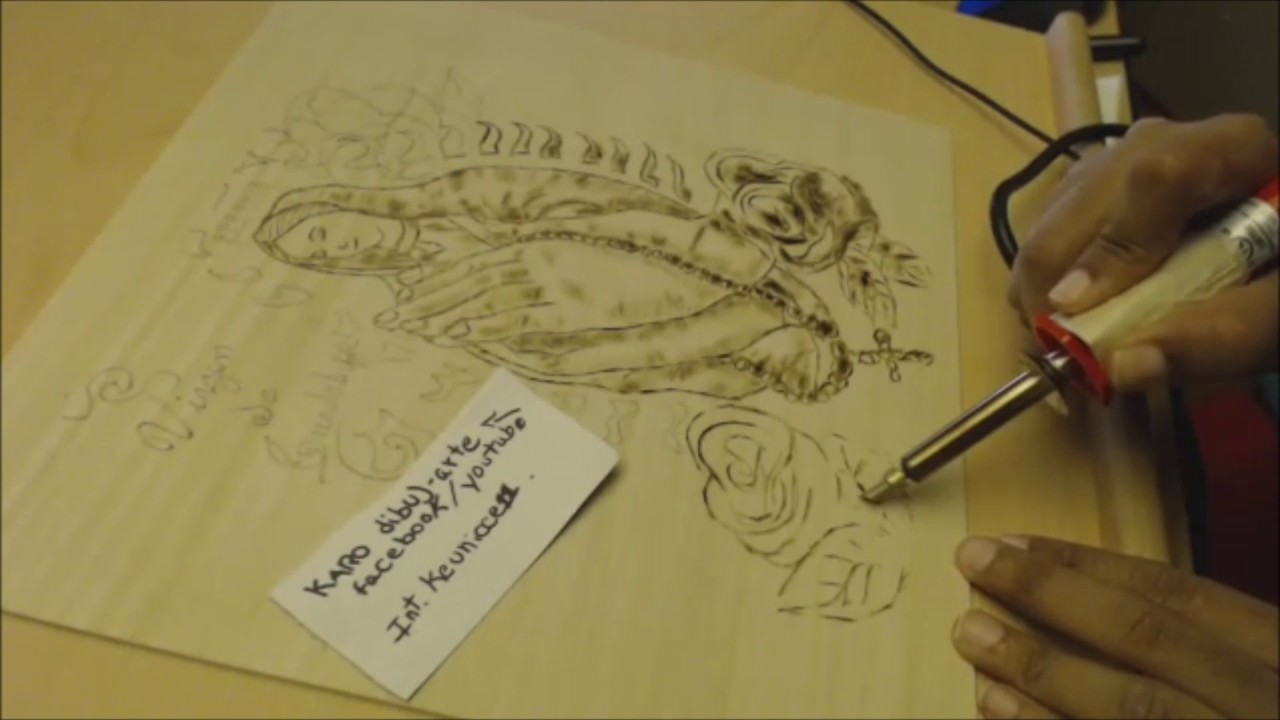 Como dibujar en pirograbado en madera virgen #4, dibujos de En Madera, como dibujar En Madera paso a paso