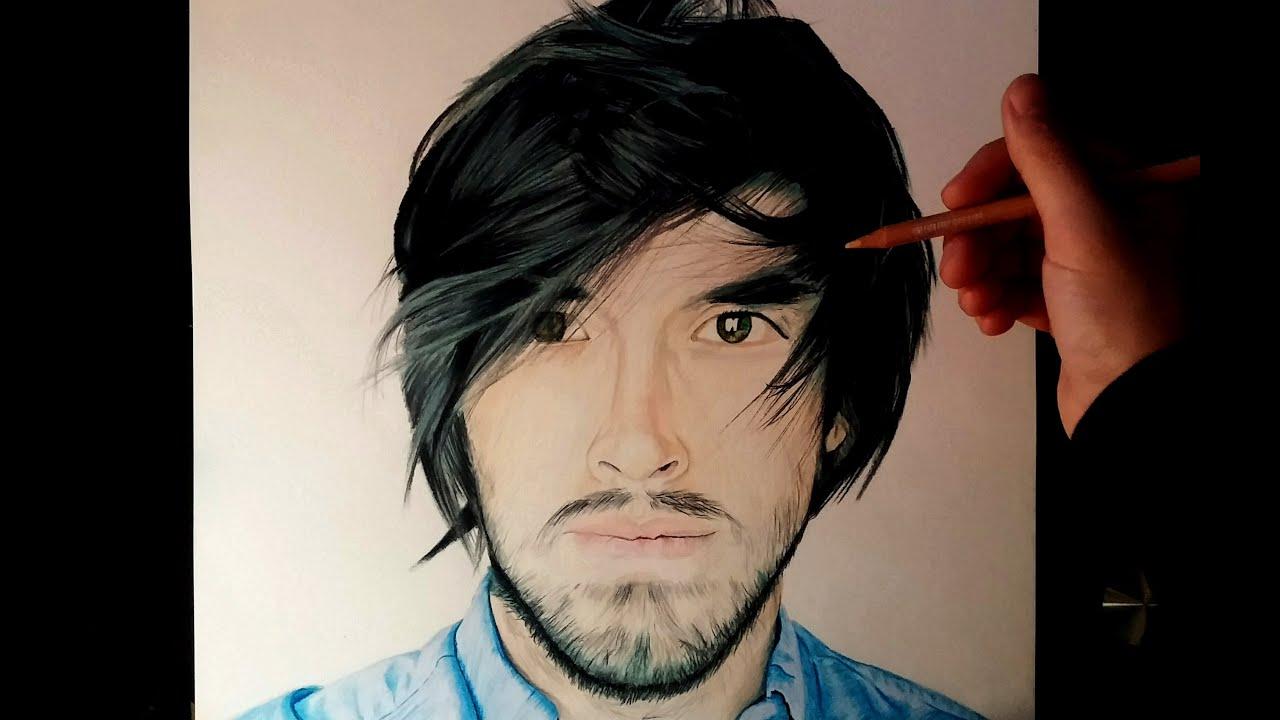 Dibujando a Youtubers HolaSoyGerman - JuegaGerman, dibujos de Youtubers, como dibujar Youtubers paso a paso