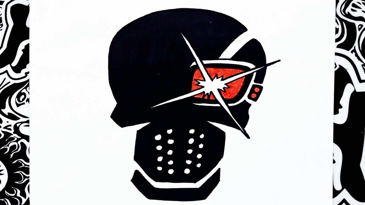 como dibujar a deadshot  escuadron suicida  how to draw deadshot, dibujos de El Logo De Deadshot De El Escuadron Suicida, como dibujar El Logo De Deadshot De El Escuadron Suicida paso a paso