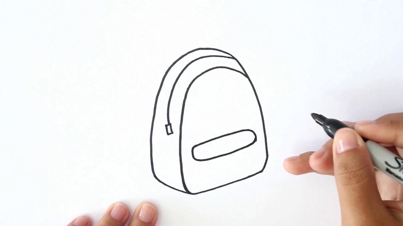 ¿Cómo Dibujar una Mochila? - Dibujo de una Mochila, dibujos de Una Mochila, como dibujar Una Mochila paso a paso