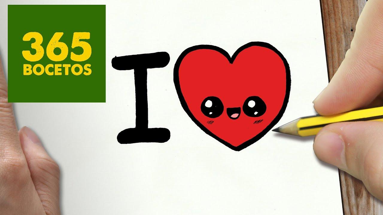 COMO DIBUJAR CORAZON KAWAII PASO A PASO - Dibujos kawaii faciles - How to  draw a HEART, dibujos de Corazón Kawaii, como dibujar Corazón Kawaii paso a paso