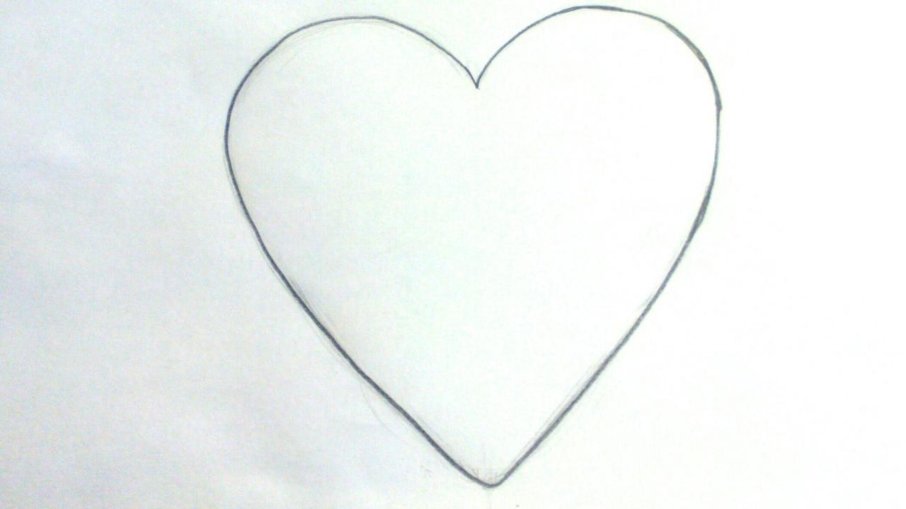 Dibujos de corazones: Cómo dibujar un emoji corazón a lápiz paso a paso - Fácil para niños, dibujos de Corazones, como dibujar Corazones paso a paso