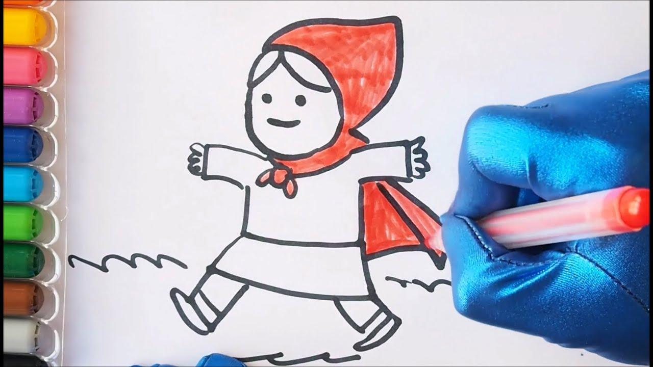 CÓMO DIBUJAR A CAPERUCITA ROJA Fácil y paso a paso  Kokoroko Dibujos para  dibujar, dibujos de Caperucita Roja, como dibujar Caperucita Roja paso a paso