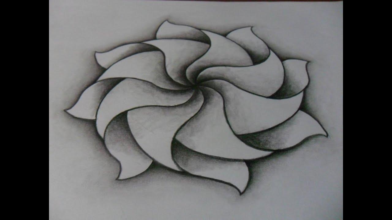 Dibujo creatividad formas y efectos - DIBUJO DE MANDALA: lápiz difuminador - Como dibujar muy fácil -, dibujos de Arte, como dibujar Arte paso a paso