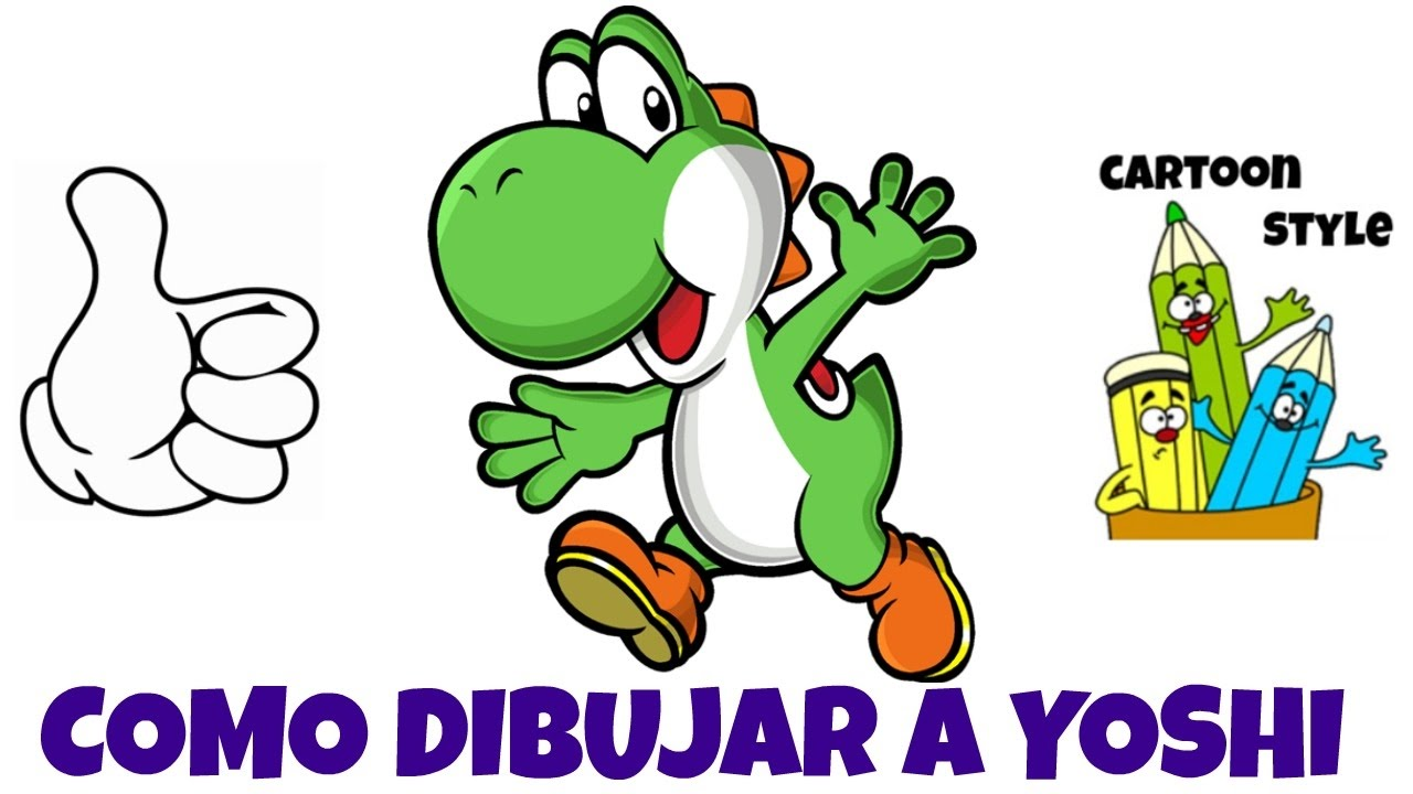 Como Dibujar a Yoshi - How to Draw Yoshi - Super Mario Bros - Cartoon Style, dibujos de A Yoshi De Super Mario Bros, como dibujar A Yoshi De Super Mario Bros paso a paso