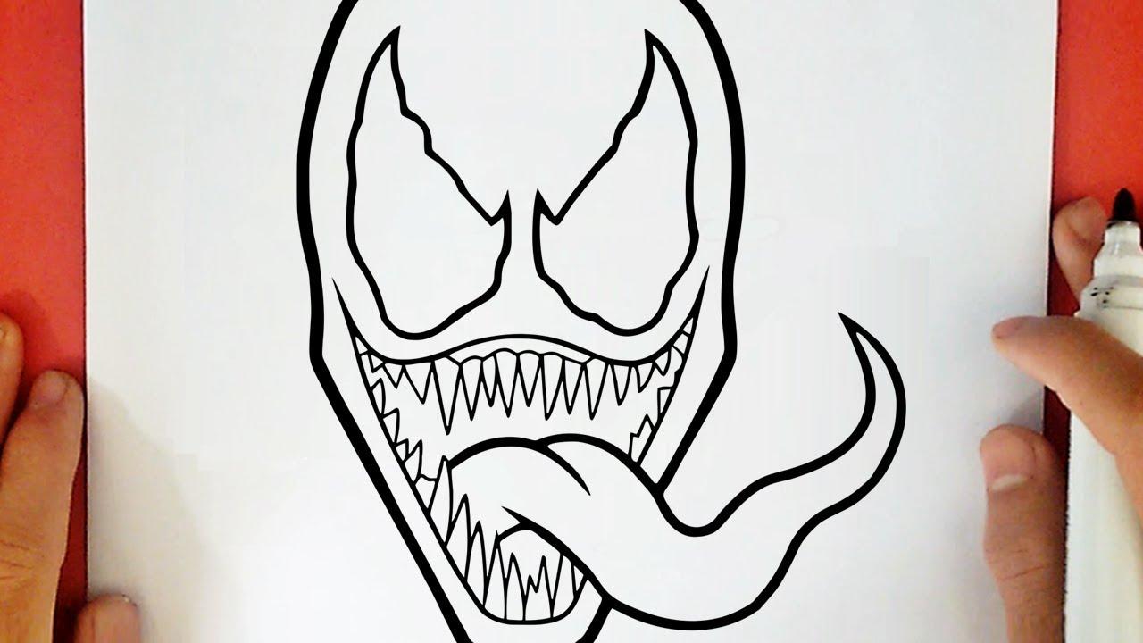 COMO DIBUJAR A VENOM, dibujos de A Venom, como dibujar A Venom paso a paso