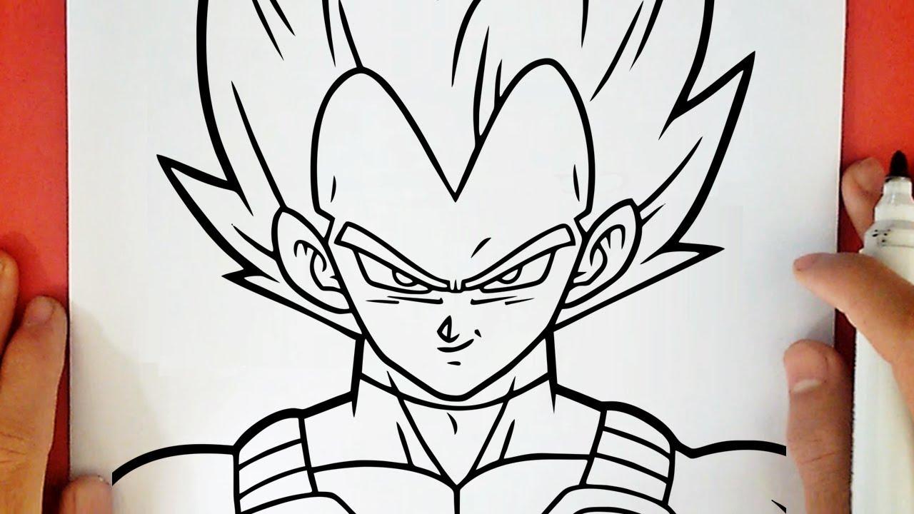 COMO DIBUJAR A VEGETA SUPER SAIYAJIN DIOS AZUL, dibujos de A Vegeta, como dibujar A Vegeta paso a paso