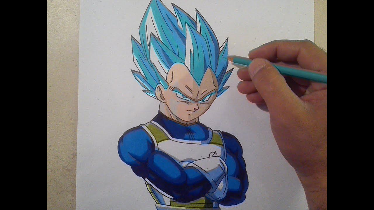 COMO DIBUJAR A VEGETA SSJ DIOS AZUL how to draw a vegeta ssj blue god, dibujos de A Vegeta, como dibujar A Vegeta paso a paso