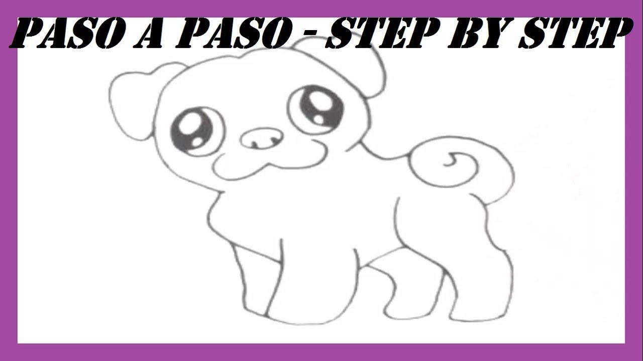 Como dibujar un Perro Doguillo l How to draw a Pug Dog l Dibujos Fáciles l Easy Drawings, dibujos de A Un Perro Pug, como dibujar A Un Perro Pug paso a paso