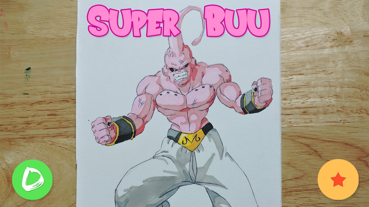 How To Draw Super Buu  Como Dibujar a Super Buu  Dragon Ball Z, dibujos de A Super Buu, como dibujar A Super Buu paso a paso