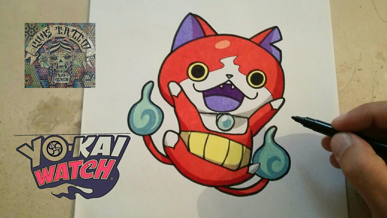 COMO DIBUJAR A JIBANYAN - YO KAI WATCH  how to draw jibanyan - yo kai watch, dibujos de Yo Kai Watch, como dibujar Yo Kai Watch paso a paso