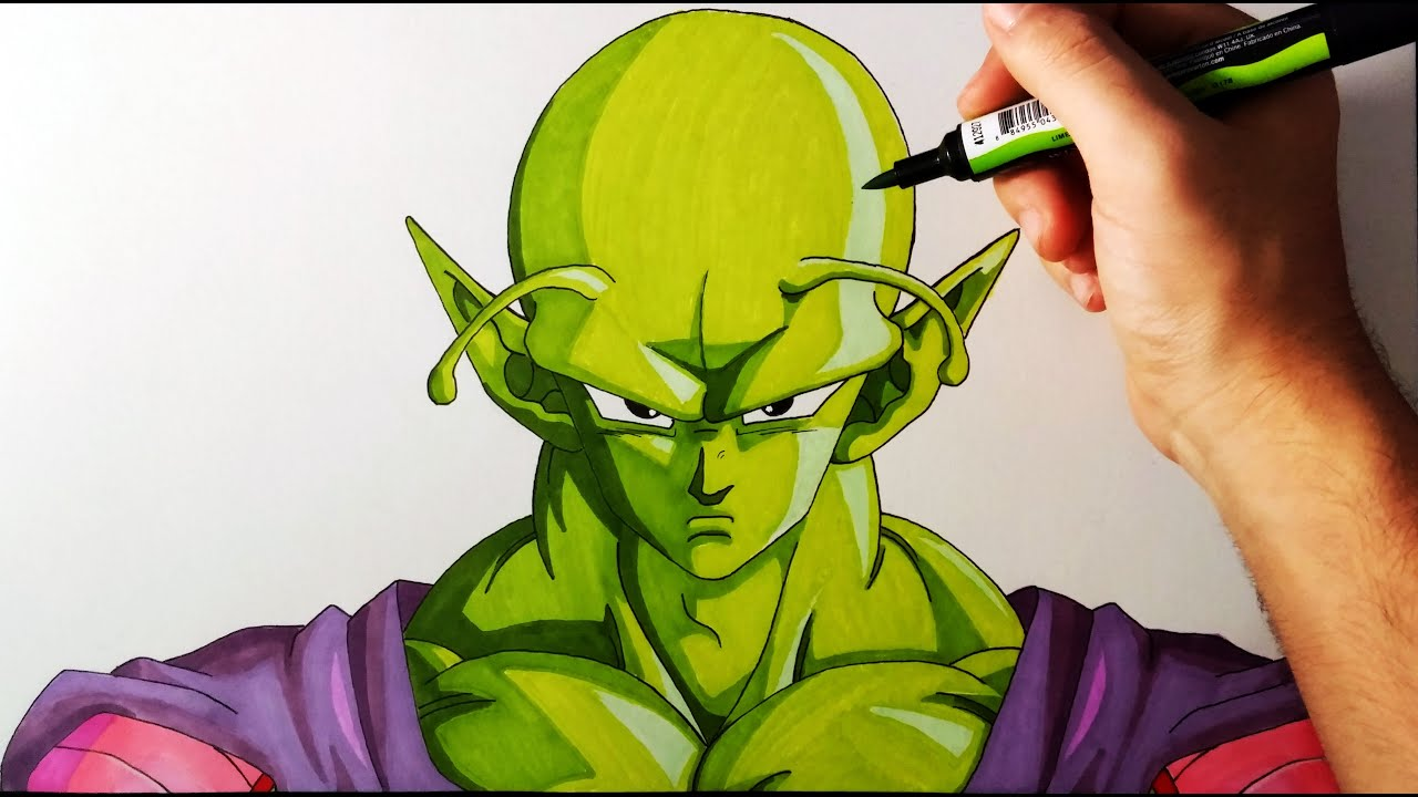 Cómo Dibujar a PiccoloPicoro Paso a Paso  Tutorial  Dragon Ball Z   ArteMaster, dibujos de A Piccolo De Dragon Ball, como dibujar A Piccolo De Dragon Ball paso a paso
