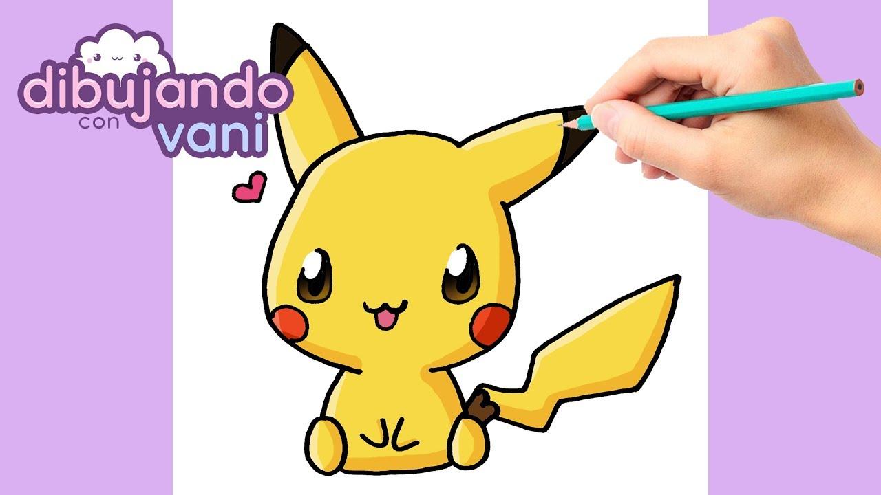 How to draw pikachu kawaii, dibujos de A Pikachu Kawaii, como dibujar A Pikachu Kawaii paso a paso