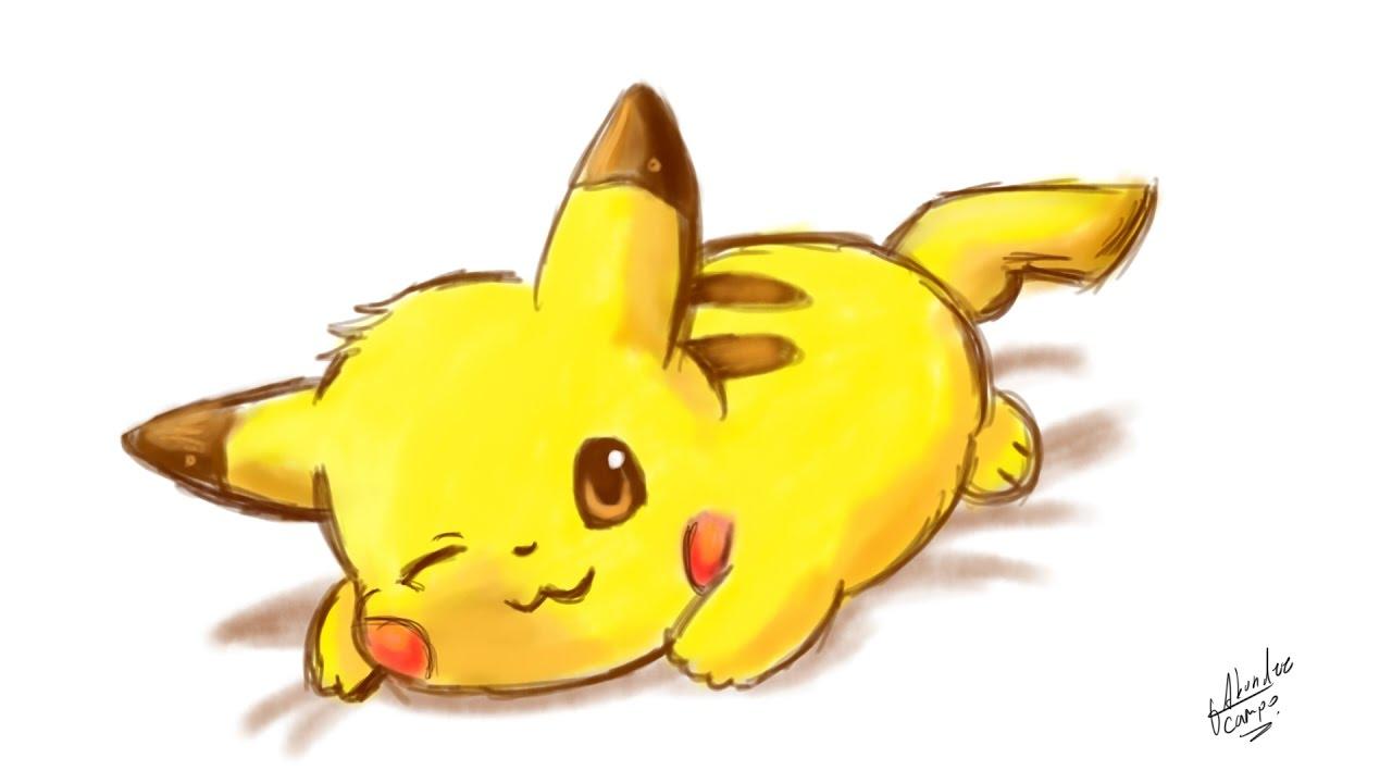 Como dibujar a Pikachu kawaiiPokemon, dibujos de A Pikachu Kawaii, como dibujar A Pikachu Kawaii paso a paso