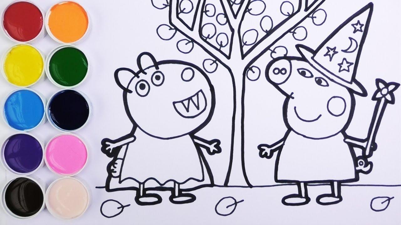 Cómo dibujar A Peppa Pig Para Halloween 】 Paso a Paso Muy ...