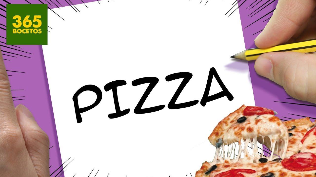 INCREIBLE TRUCO CON LA PALABRA PIZZA - DIBUJO UNA PIZZA CON SUS LETRAS, dibujos de A Partir De La Palabra Pizza, como dibujar A Partir De La Palabra Pizza paso a paso