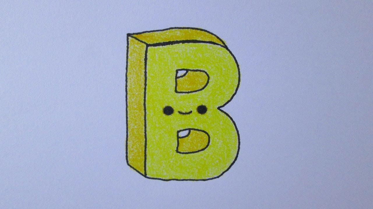 Cómo dibujar la letra B, dibujos de A Partir De La Letra B, como dibujar A Partir De La Letra B paso a paso