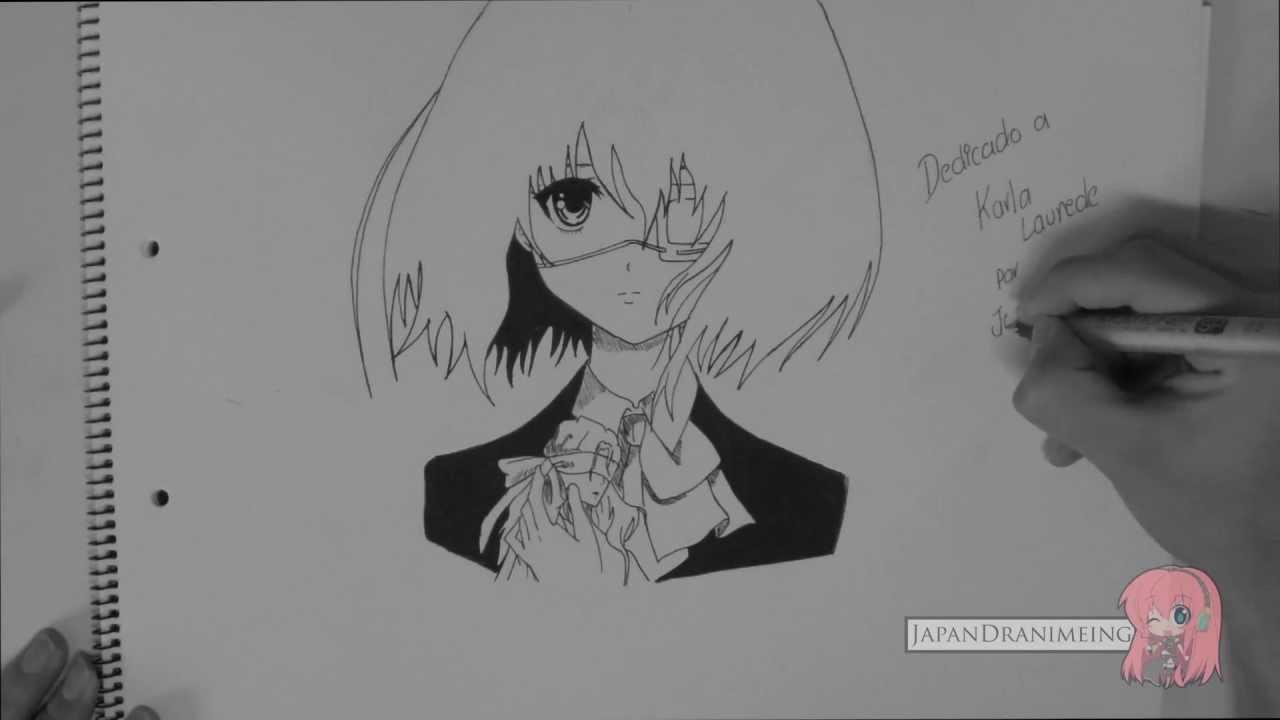 Como Dibujar Misaki Mei de Another, dibujos de A Misaki Mei, como dibujar A Misaki Mei paso a paso