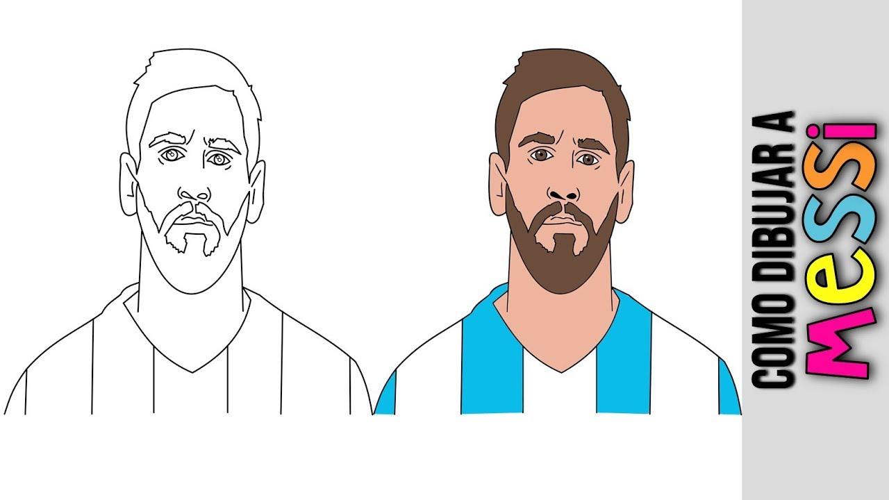 Lionel Messi ⚽️ Como Dibujar A Lionel Messi ⚽️ Dibujos Animados ⚽️ Dibujos  Faciles ⚽️ Caricaturas, dibujos de A Messi, como dibujar A Messi paso a paso