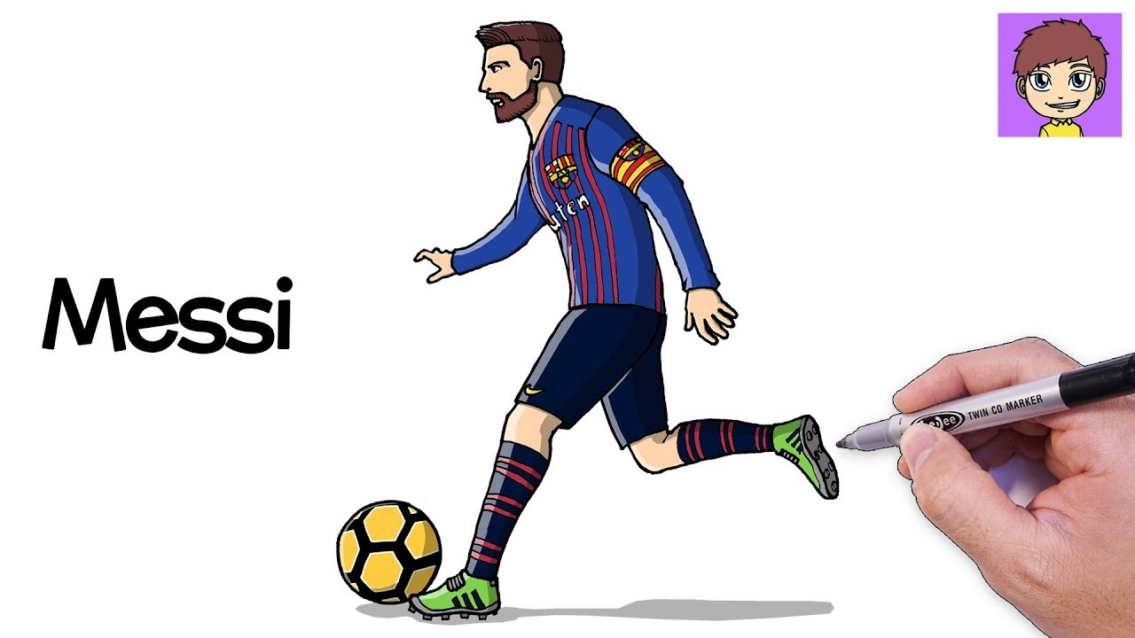 Como Dibujar a Messi Paso a Paso - Dibujos para Dibujar - Dibujos Faciles  Lionel Messi, dibujos de A Messi, como dibujar A Messi paso a paso