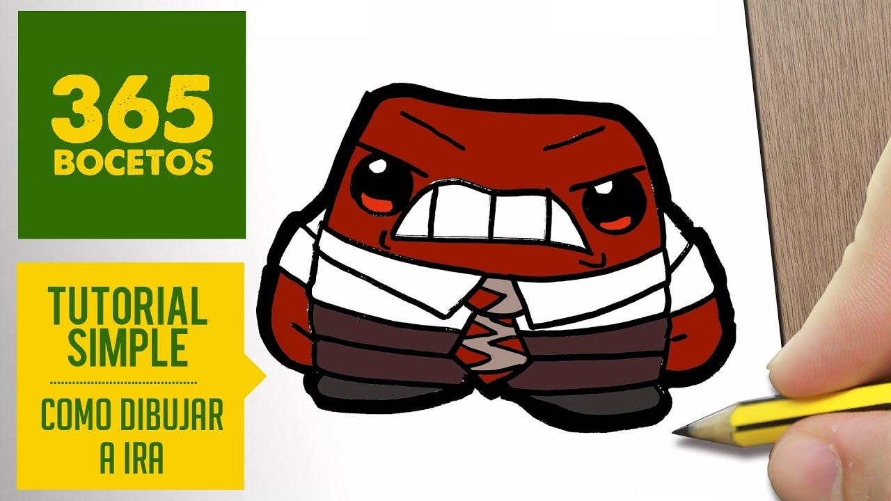 COMO DIBUJAR A IRA DE INSIDE OUT KAWAII PASO A PASO - Dibujos kawaii  faciles - How to draw Anger, dibujos de A Ira De Inside Out, como dibujar A Ira De Inside Out paso a paso