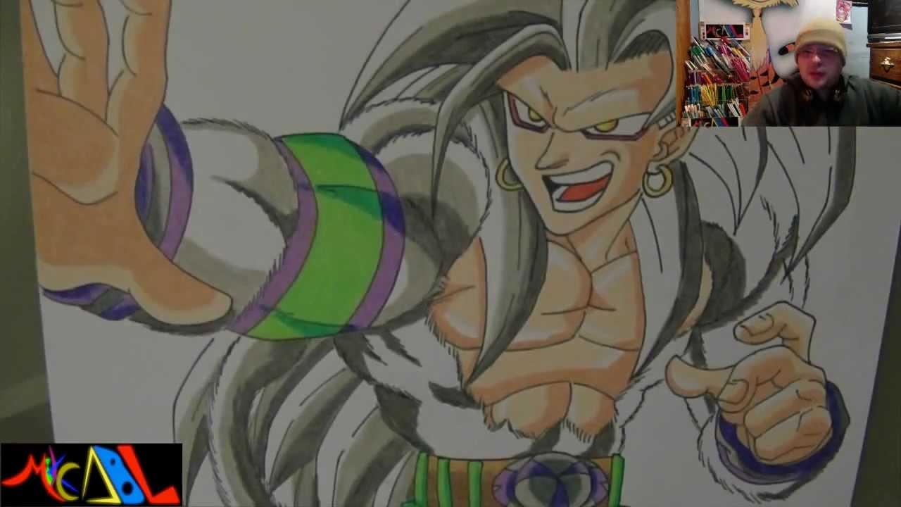 Dibujando a: Goku SSJ5, dibujos de A Gokú Ssj 5, como dibujar A Gokú Ssj 5 paso a paso