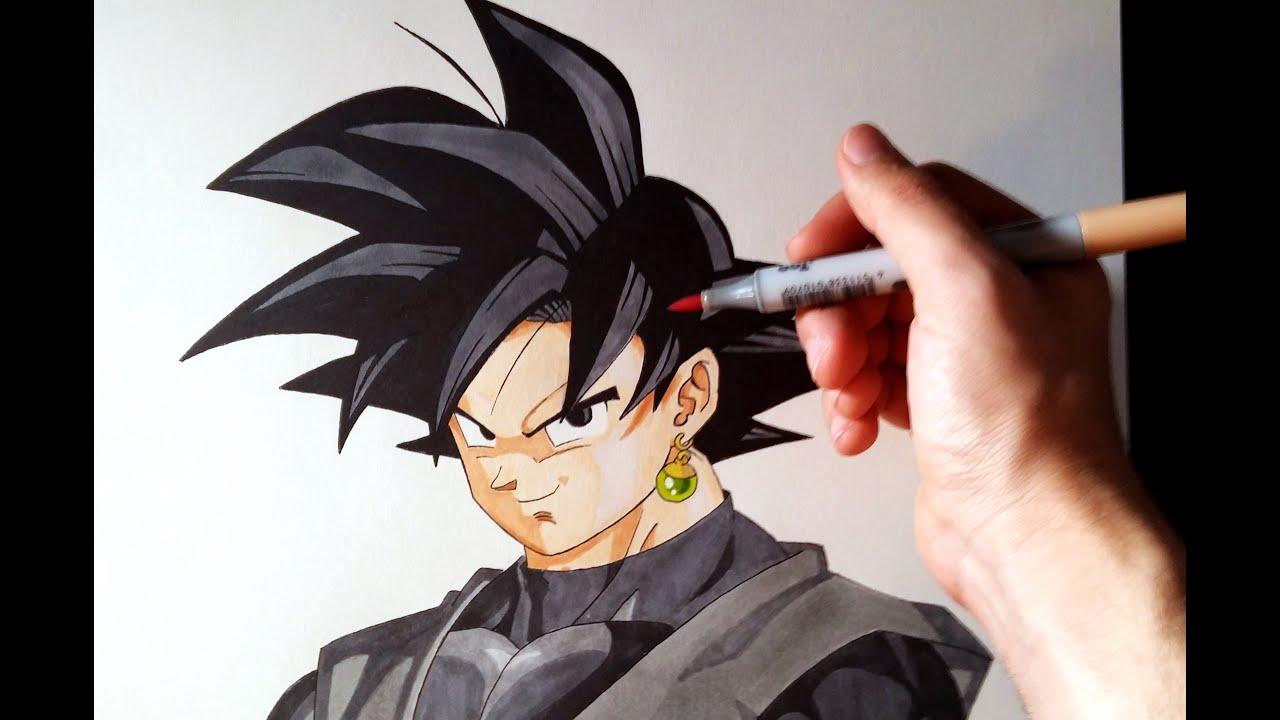 Cómo dibujar a Goku Black de Dragon Ball Super  How to draw Goku Black DBS   ArteMaster, dibujos de A Gokú Black De Dragon Ball Super, como dibujar A Gokú Black De Dragon Ball Super paso a paso