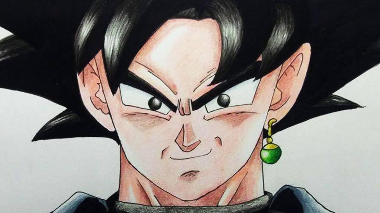 DIBUJANDO A BLACK GOKU  DRAWING BLACK GOKU (DRAGON BALL SUPER), dibujos de A Gokú Black De Dragon Ball Super, como dibujar A Gokú Black De Dragon Ball Super paso a paso