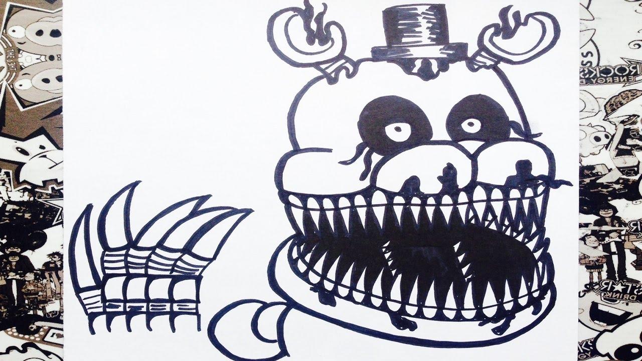 Como dibujar a nightmare de five nights at freddy's 4  how to draw  nightmare, dibujos de A Freddy 4, como dibujar A Freddy 4 paso a paso