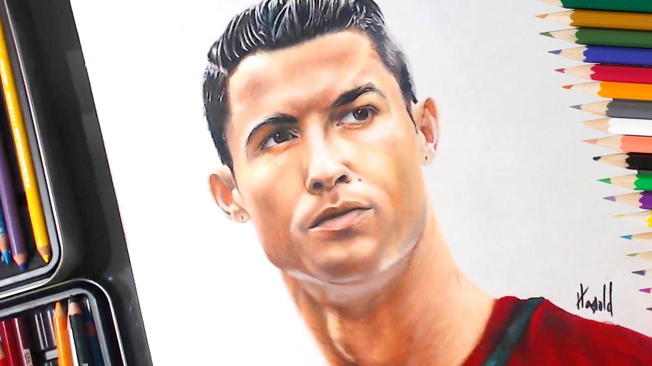 Dibujo de Cristiano Ronaldo speed drawing, dibujos de A Cristiano Ronaldo, como dibujar A Cristiano Ronaldo paso a paso