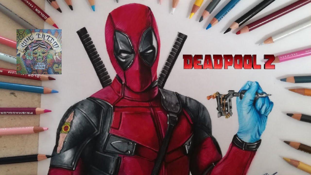 COMO DIBUJAR A DEADPOOL 2 (REALISTA) how to draw deadpool 2, dibujos de A Deadpool Super Realista, como dibujar A Deadpool Super Realista paso a paso