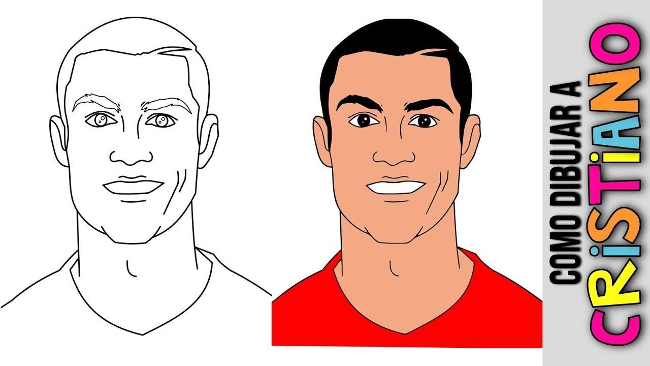Cristiano Ronaldo ⚽️ Ronaldo Cristiano ⚽️ Dibujos ⚽️ Dibujos Para Colorear ⚽️ Dibujos A Lapiz, dibujos de A Cristiano Ronaldo, como dibujar A Cristiano Ronaldo paso a paso