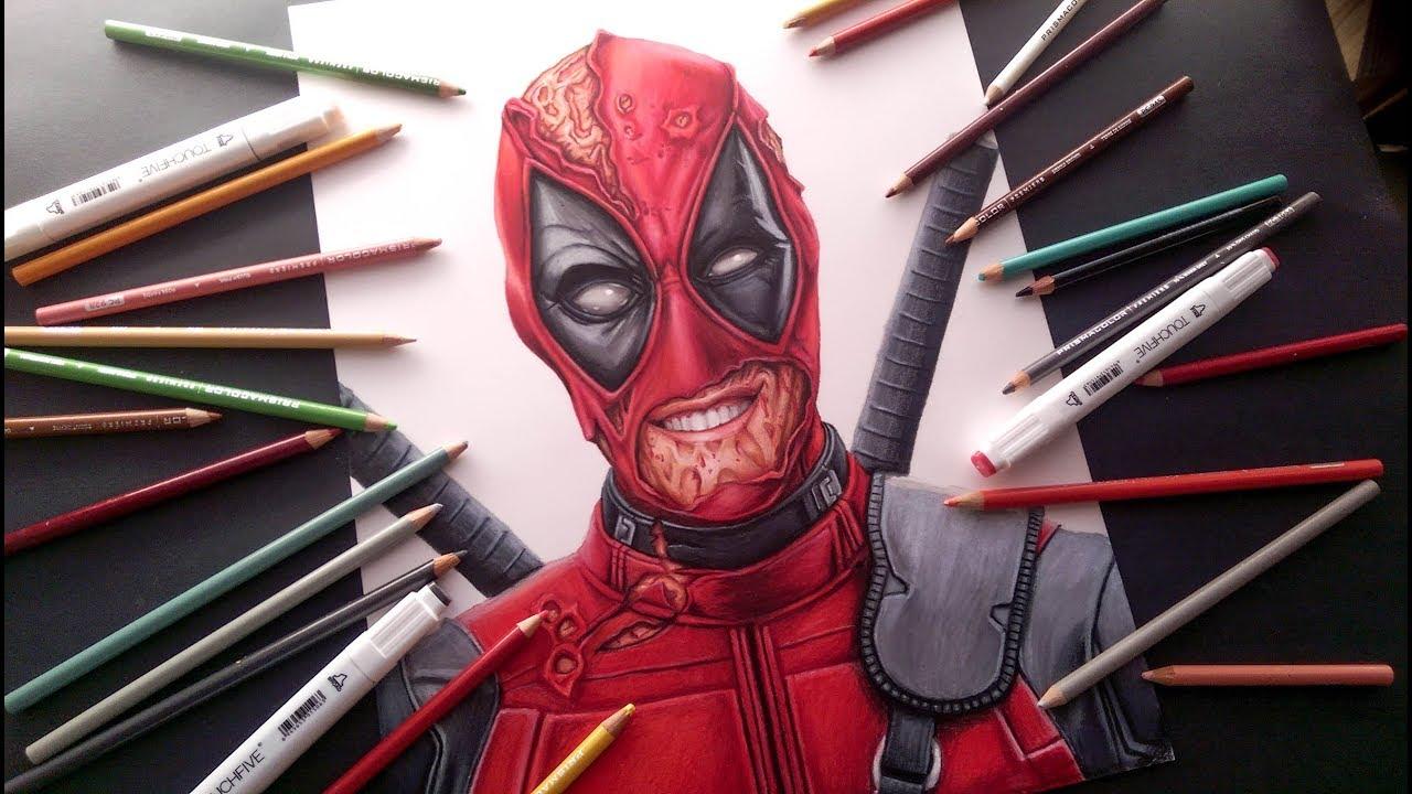 Dibujando a Deadpool 2 Realista Drawing Deadpool, dibujos de A Deadpool Super Realista, como dibujar A Deadpool Super Realista paso a paso