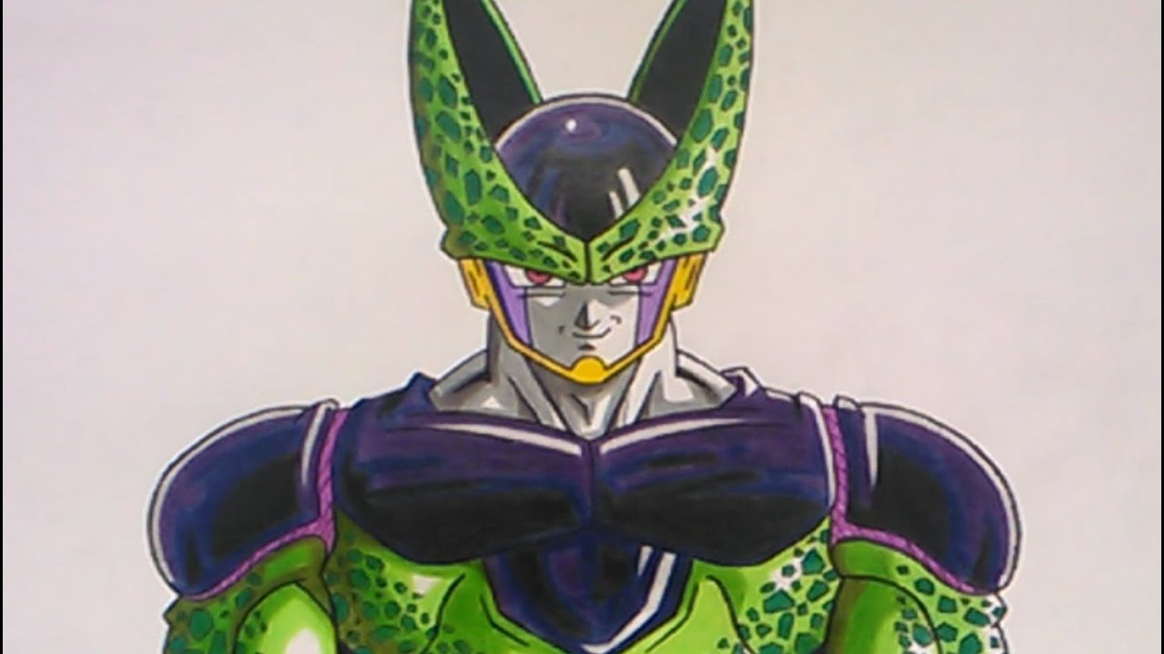 Cómo dibujar a Cell Perfecto – How to draw Cell Perfect (Dragon Ball Z), dibujos de A Cell De Dragon Ball Z, como dibujar A Cell De Dragon Ball Z paso a paso