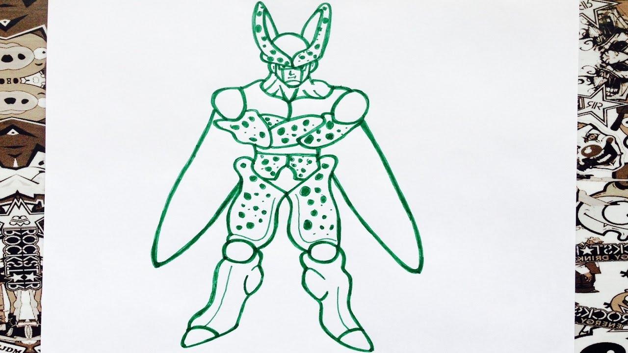 Como dibujar a cell  how to draw cell  como desenhar o cell, dibujos de A Cell De Dragon Ball Z, como dibujar A Cell De Dragon Ball Z paso a paso