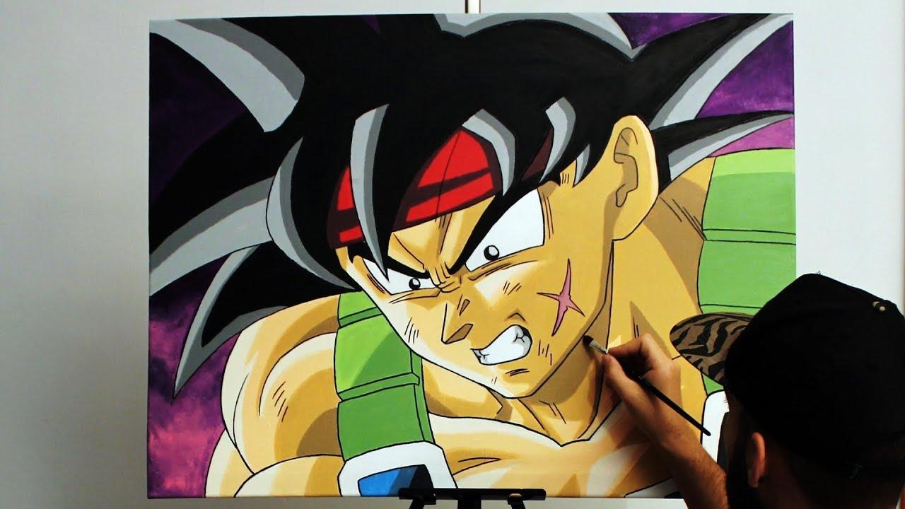 Pintando a Bardock en un lienzo (MUY GRANDE)  Dragon Ball Z  ArteMaster, dibujos de A Bardock En Un Lienzo, como dibujar A Bardock En Un Lienzo paso a paso