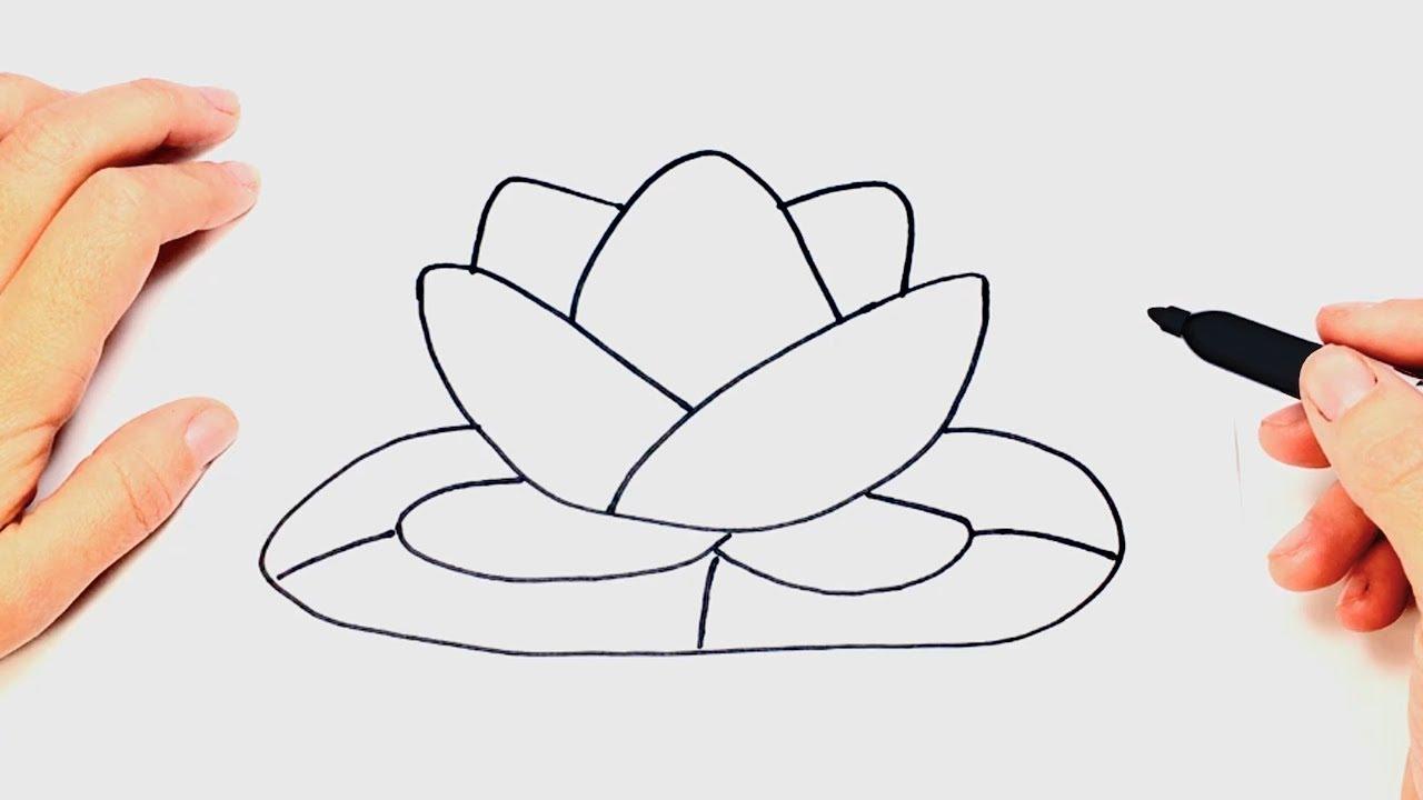 Como dibujar una Flor de Loto Paso a Paso, dibujos de Una Flor De Loto, como dibujar Una Flor De Loto paso a paso