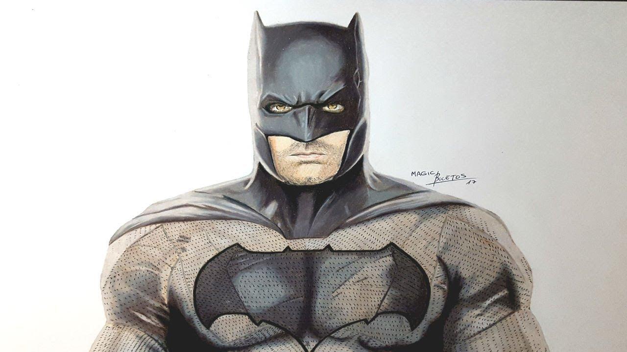 Cómo Dibujar a BATMAN Realista-How to Draw BATMAN Real-MagicBocetos, dibujos de A Batman Realista, como dibujar A Batman Realista paso a paso