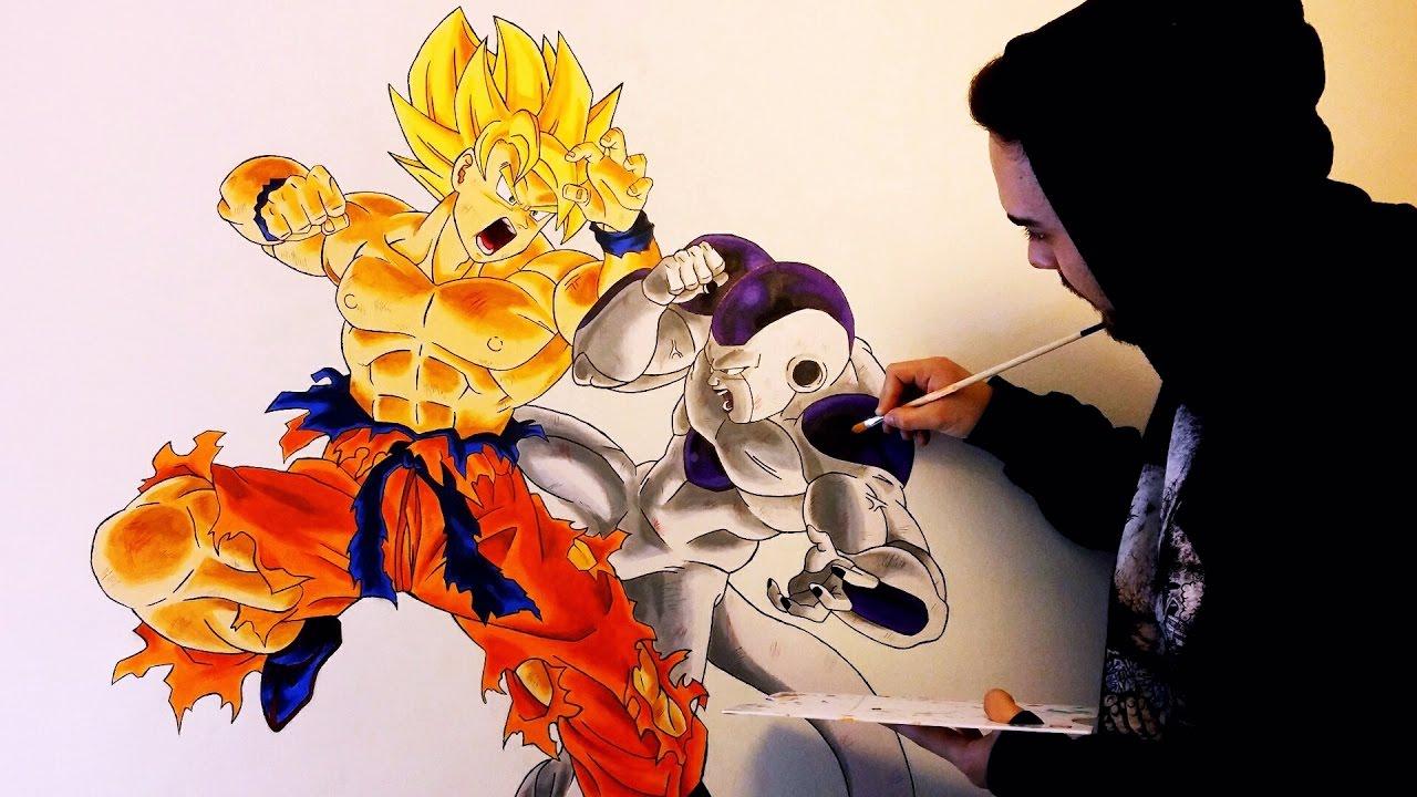 Pintando a Bardock en un lienzo (MUY GRANDE)  Dragon Ball Z  ArteMaster -  YouTube, dibujos de A Bardock En Un Lienzo, como dibujar A Bardock En Un Lienzo paso a paso