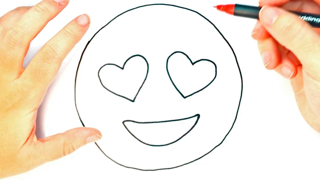 Cómo dibujar emojis de ojos de corazón