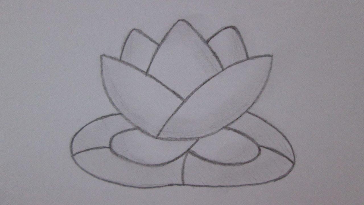 Cómo dibujar una flor de loto, dibujos de Una Flor De Loto, como dibujar Una Flor De Loto paso a paso