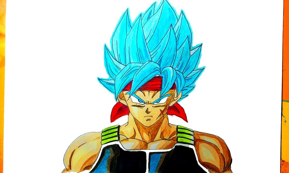 DIBUJANDO A BARDOCK SSJ DIOS AZUL - [ How to Draw father goku ], dibujos de A Bardock De Dragon Ball Z, como dibujar A Bardock De Dragon Ball Z paso a paso