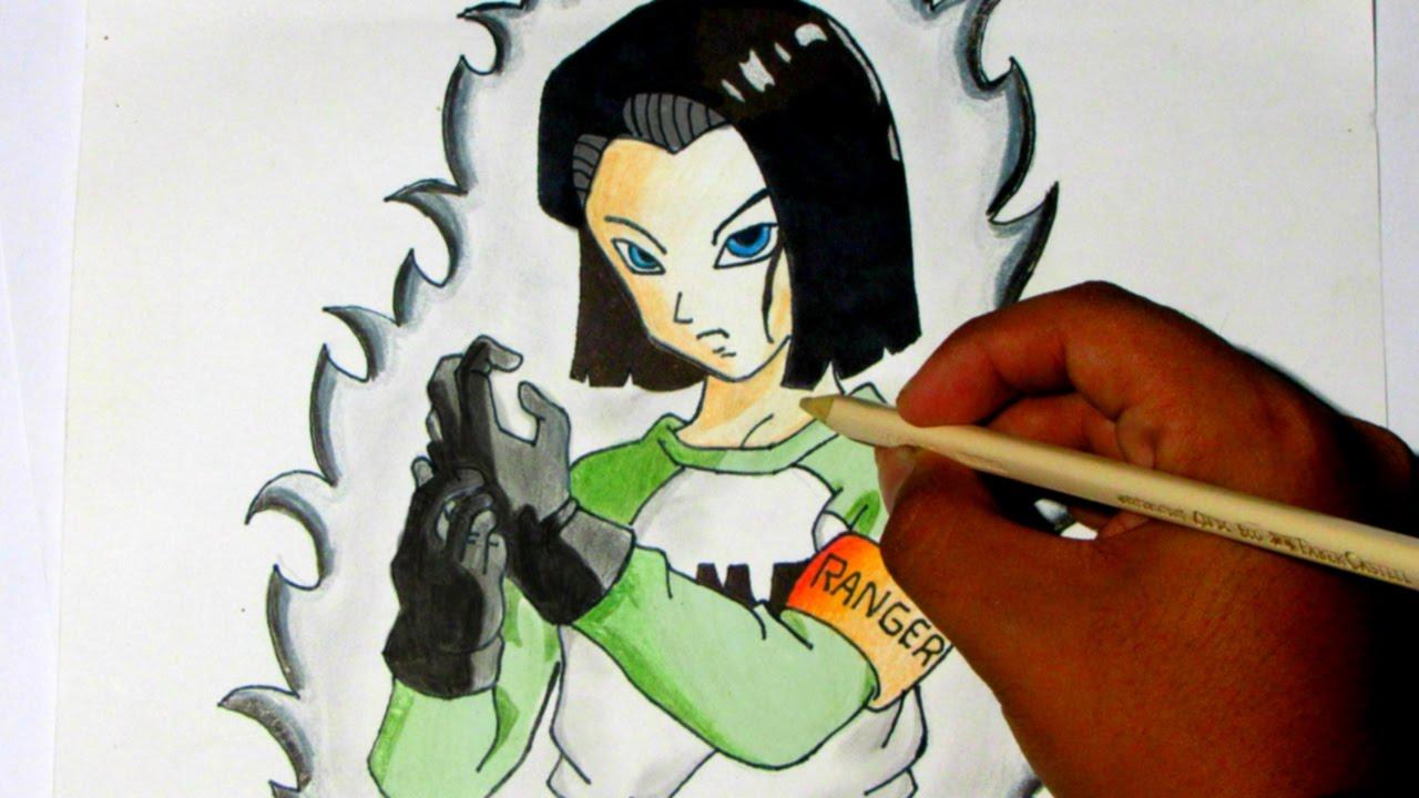 Como Dibujar a Androide N #17 - [ How To Draw Android N #17 ] [ Dragon ball  Super ], dibujos de A Androide 17, como dibujar A Androide 17 paso a paso
