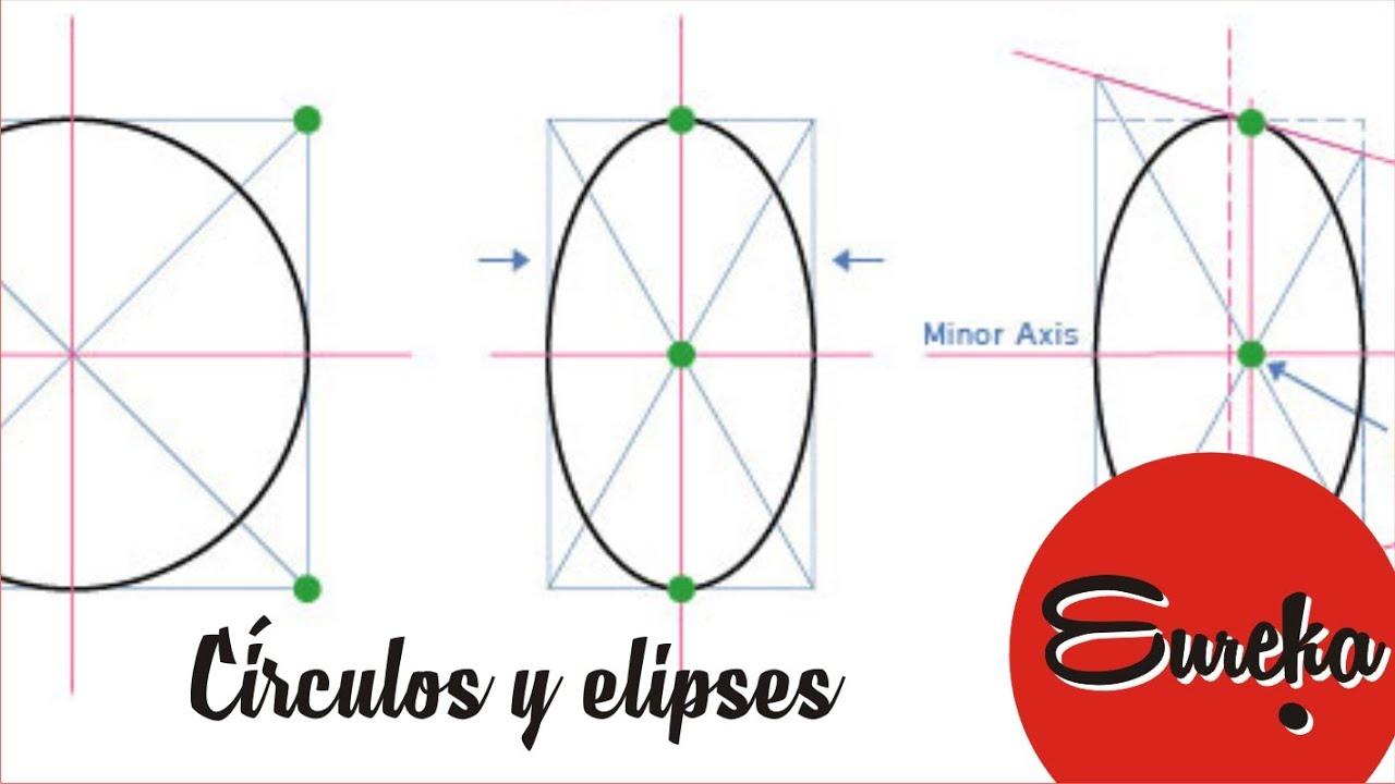 Tutorial de dibujo │ Dibujar círculos y elipses, dibujos de Una Elipse A Mano, como dibujar Una Elipse A Mano paso a paso