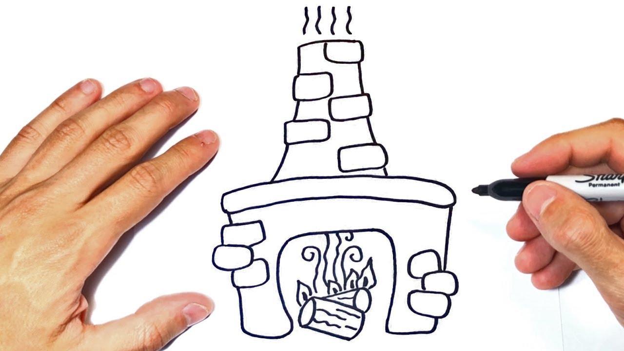 Cómo dibujar una Chimenea Paso a Paso  Dibujo de Chimenea, dibujos de Una Chimenea, como dibujar Una Chimenea paso a paso
