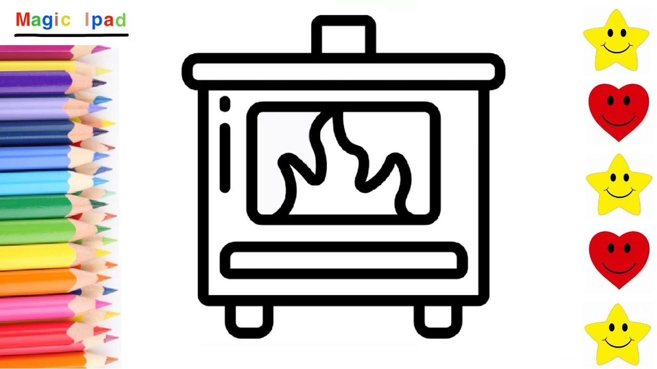Como dibujar una CHIMENEA  dibujos para niños 💓⭐ How to draw a FIREPLACE   drawings for kids, dibujos de Una Chimenea, como dibujar Una Chimenea paso a paso
