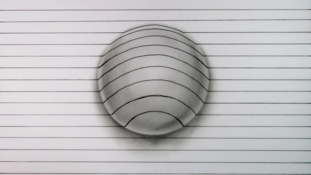 Cómo Dibujar esta INCREÍBLE esfera 3D MUY FÁCIL ILUSIÓN ÓPTICA How to draw 3D Sphere, dibujos de Una Esfera En 3D, como dibujar Una Esfera En 3D paso a paso