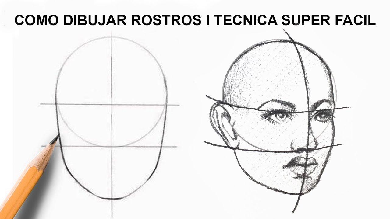 TECNICA SUPER FACIL PARA DIBUJAR ROSTROS I PRICIPIANTE EN DIBUJAR, dibujos de Una Cara, como dibujar Una Cara paso a paso