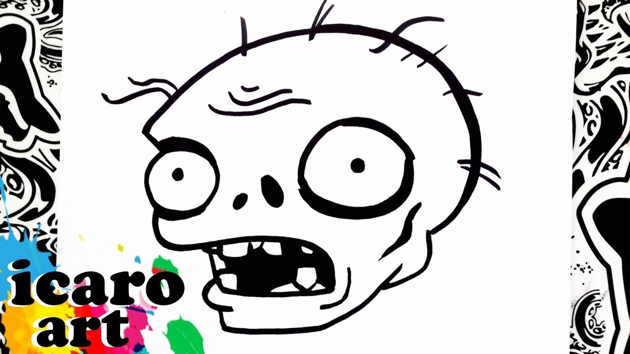 como dibujar un zombie de plants vs zombies how to draw zombie from plants vs zombies, dibujos de Zombies, como dibujar Zombies paso a paso
